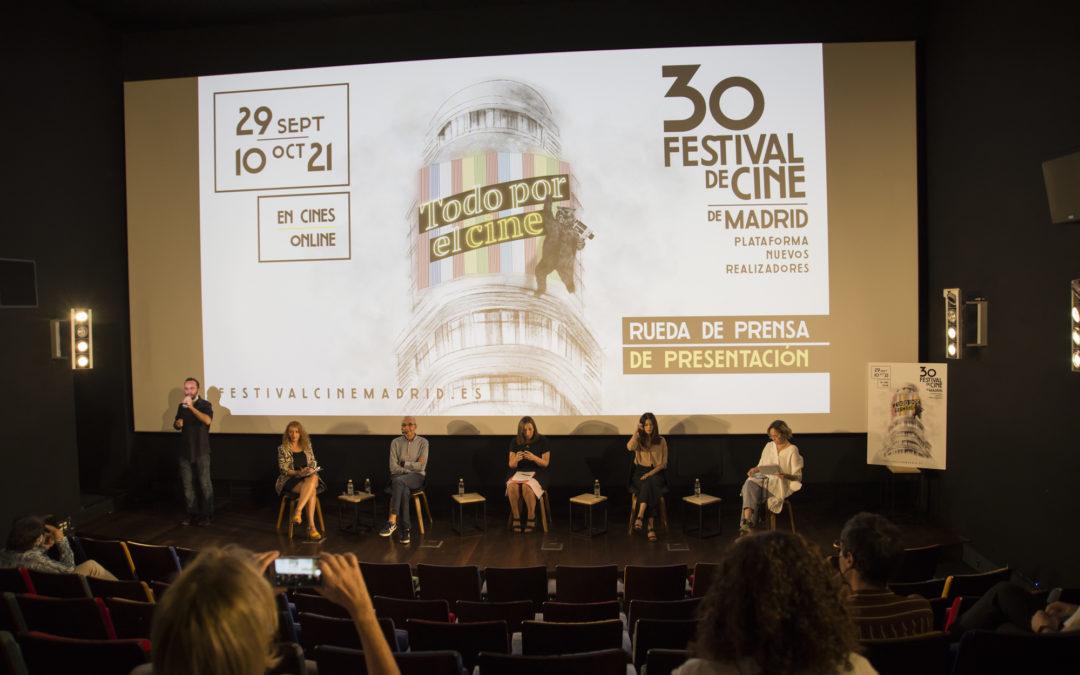 El Festival de Cine de Madrid (FCM-PNR) presenta la programación de su nueva edición, en la que celebra su 30 aniversario