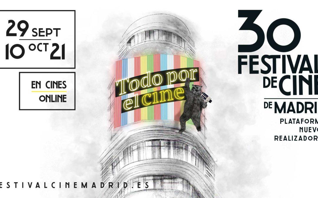 El Festival de Cine de Madrid presenta el cartel de su 30º edición bajo el eslogan: Todo por el cine
